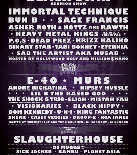 Paid Dues Tour 2011 Line-Up