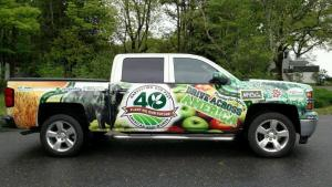 """Truck used by AAW President Sue McCrum in her """"Drive Across America"""" tour."""