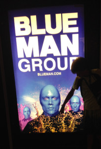 Blue Man Group poster on board the norwegian Epic