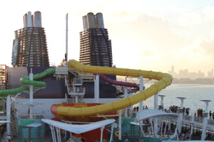 Water Slides from the upper deck