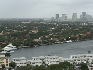 View from the Ft. Lauderdale Hilton Beach hotel