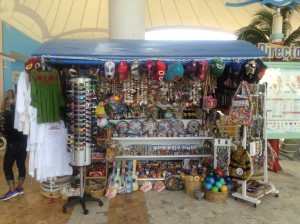tourist stand at Cozumel port