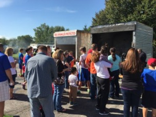 Crowds view fire damage at the Orland Fire Protection DIstrict's annual Open House Sept. 26, 2015