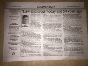 Ray Hanania's newspaper column continues in the Southwest Newspaper Group. Hanania has been writing since 1975.