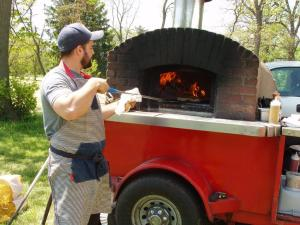 Brick oven pizza: For hungry paddlers at the finish