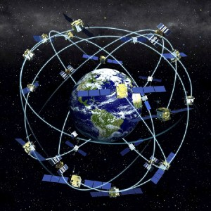 GPS satellite orbit constellation