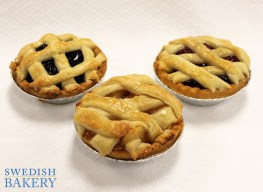 Swedish Bakery - Mini Apple, blueberry, Cherry Pies for Pi Dayjpg