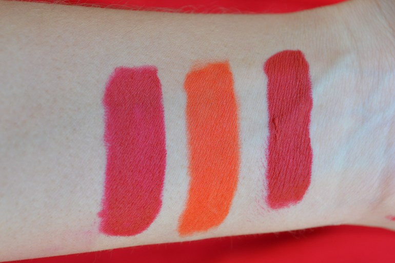 Swatches without flash Left to right: Blake, Doutzen, J.Lo