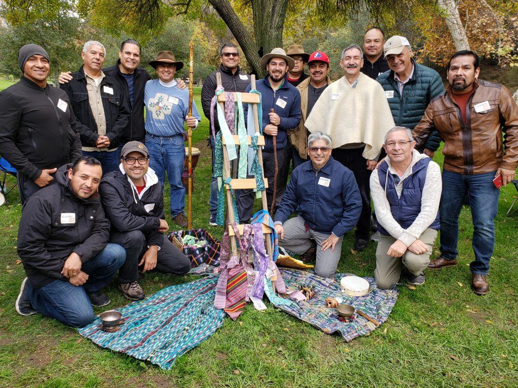 El grupo alrededor del Espacio Sagrado