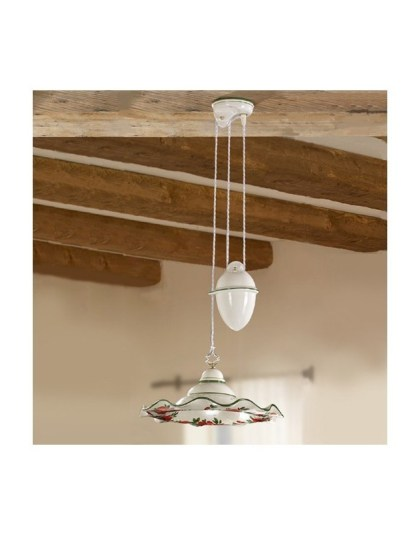 New Chandelier Ups And Downs With Counter Weight Lamp Shade In Ceramic Fl Decoration