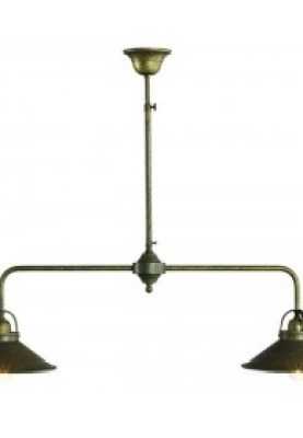 Brass Chandelier Antique Vintage 2 Light 90 Cm