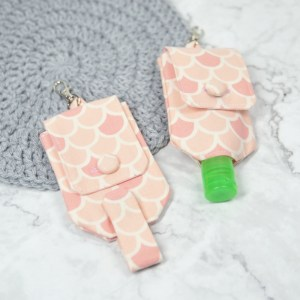 Hand Sanitizer Carrier - Peachy Scales