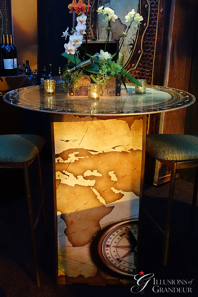"""Nautical Cocktail Tables 32"""" Top x 42""""h"""