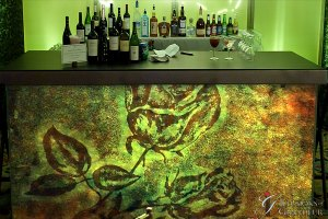 "Green Rose Bar 96"" x 30"" x 42""h"