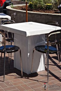 """White Ripple Cocktail Tables 32"""" x 32"""" Top x 30""""h"""