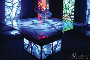"Chagall Tables 66"" x 66"" x 30""h"