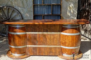 "Barrel Bar 96"" x 30"" x 40""h"