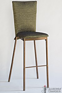 Bronze Diamond Back Barstools Moss Crinkle Chair Back Covers Moss Crinkle Cushion Covers