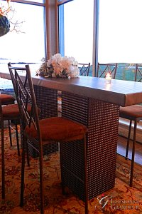 "Bronze Square Communal Tables 24"" x 96"" Top x 30"" or 42""h"