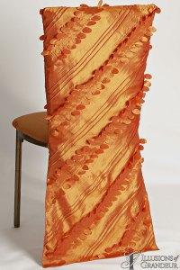 Bronze Diamond Back Chairs Long Orange Leaf Chair Back Covers Orange Dupioni Cushion Covers
