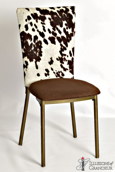 Bronze Diamond Chairs with Pony Chair Back Cover