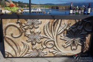 """Tooled Leather Bar 24""""x94""""x46""""h"""
