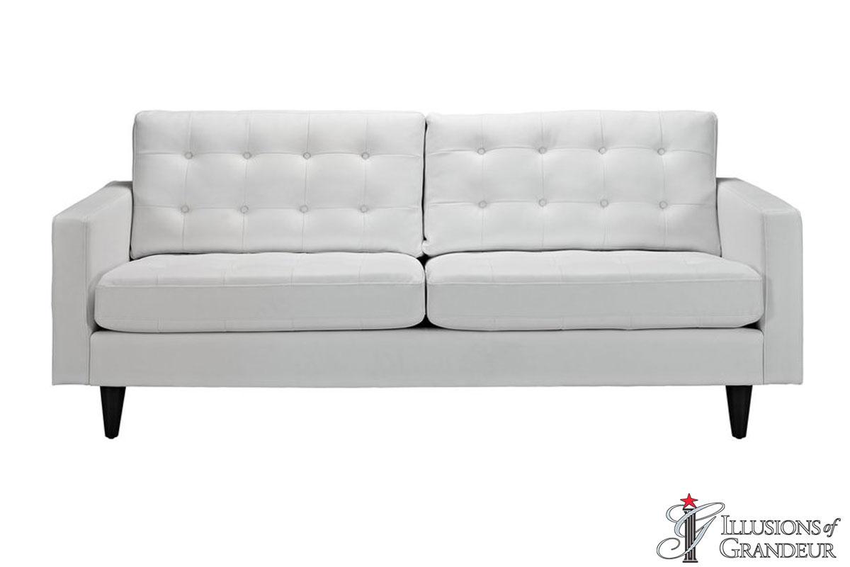 """White Leather Sofas 34.5""""H x 84.5""""W x 35.5""""D"""