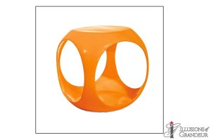 "Orange Cube Tables 15""W x 15D"" x 17""H"