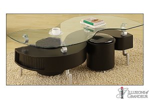 """Wave Coffee Table 51""""W x 26D"""" x 18""""H"""