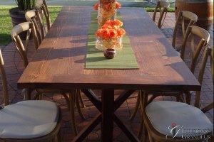 """Redwood Farm Tables 40""""x96""""x30""""h"""