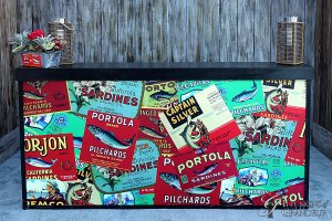 """Cannery Row Sardine Bar 24""""x94""""x46""""h"""