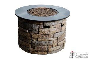 "Carmel Stone Fire Pits 36""x36""x24""h"