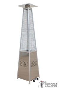 "Stainless Steel Pyramid Heater 20""x22""x99"""