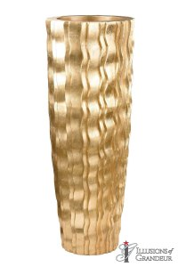 "Gold Wave Vases 18""x18""x47""H"
