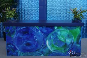 "Large-Glass-Ball-Bar-24""x94""x46""H"