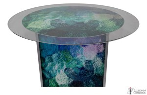 Abstract Blue/Green Large Dining Tables