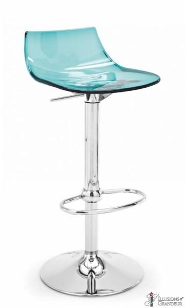 Aqua Acrylic Bar Stools
