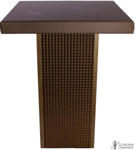 Bronze Square Tall Cocktail Tables