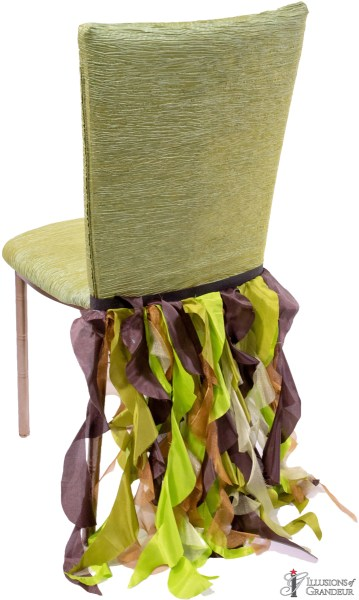 Bronze Diamond Chairs with Ribbons