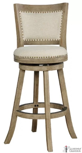 Oatmeal Swivel Bar Stools