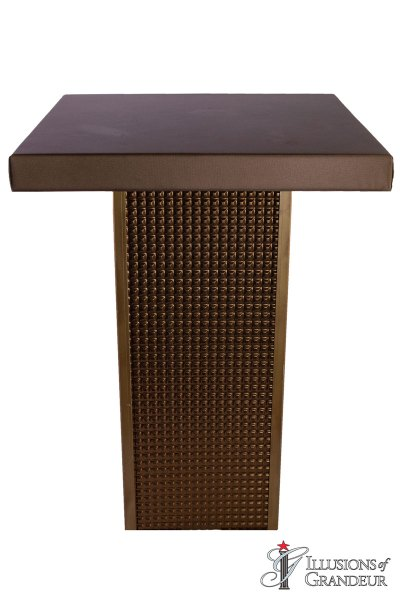 Bronze Square Cocktail Tables ~ tall