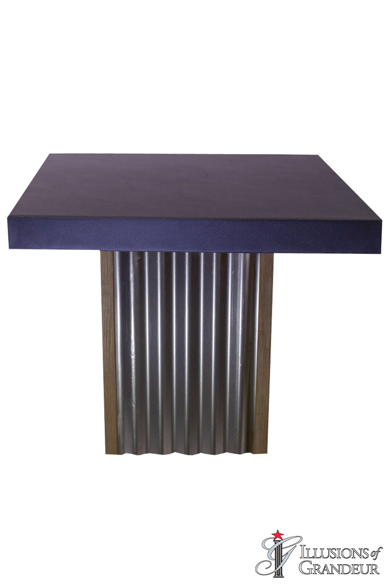 Corrugated Metal Cocktail Tables ~ short