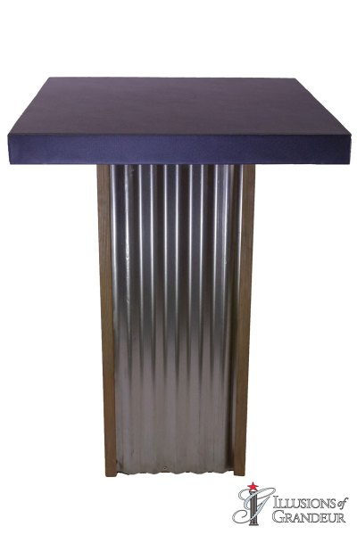 Corrugated Metal Cocktail Tables ~ tall