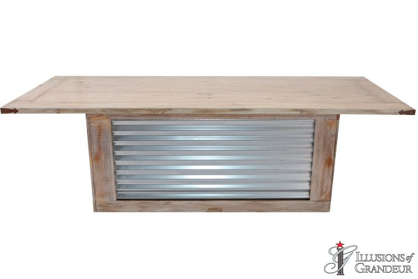 Corrugated Metal Dining Tables