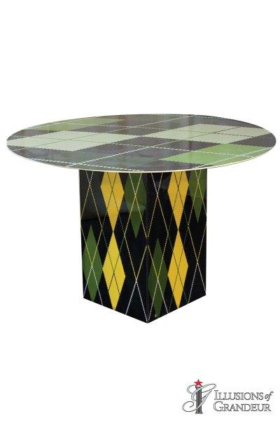 Illuminated Argyle Cocktail Tables ~ short