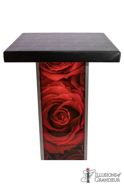 Illuminated Red Rose Cocktail Tables