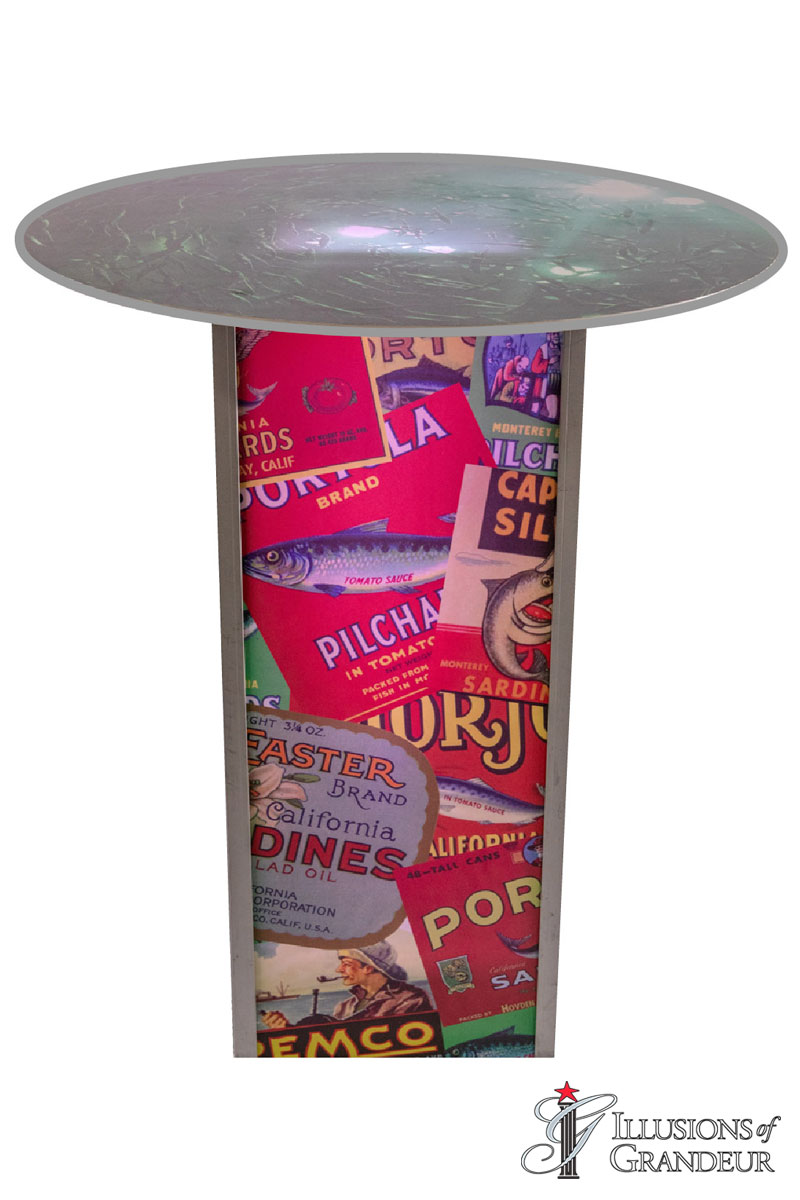 Illuminated Sardine Label Cocktail Tables