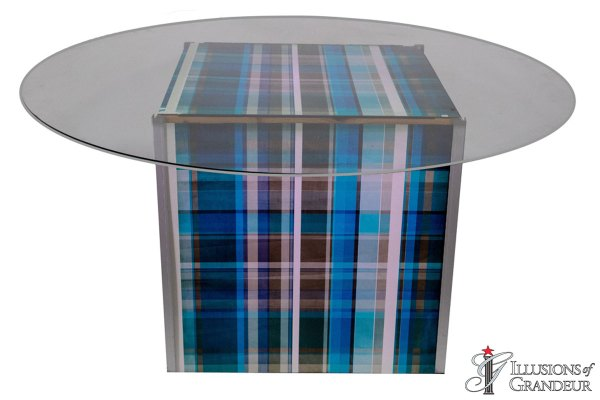 Illuminated Plaid Dining Tables