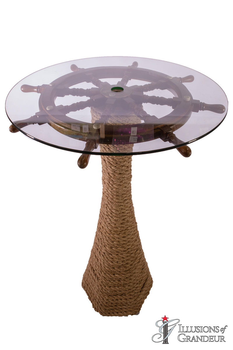 Ship Wheel Cocktail Tables