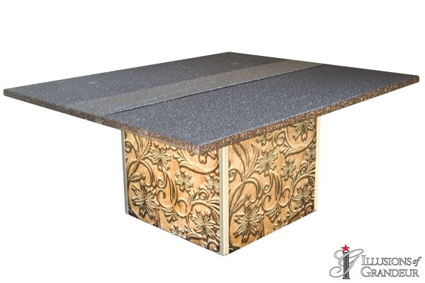 Illuminated Tooled Leather Dining Tables